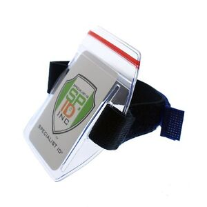 5 Pack- Heavy Duty Water Resistant Armband ID Badge Holders w Resealable Zip Top