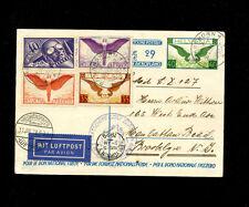 Zeppelin Sieger 27 1929 1st North America Flight Switzerland Treaty dispatch