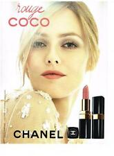 PUBLICITE ADVERTISING  2011   CHANEL  Rouge COCO  VANESSA PARADIS
