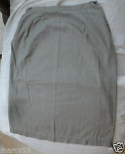 """Cute Vintage 50's 60's Charcoal Gray Cotton Straight Skirt Side Zip Waist 25"""""""
