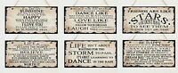 Shabby Hanging Wooden Plaque Sign Dance Sunshine Love Vintage Life Quotes Chic