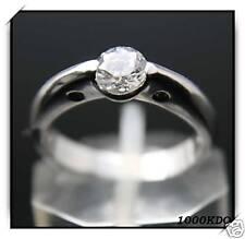 Bague Alliance Diamant Cz En Argent Neuf BGA20 T 58