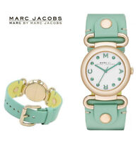 Marc by Marc Jacobs Women's Molly Gold Tone Minty Leather Watch 30mm MBM1306