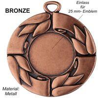 10er Set 50mm Medaillen D28C Bronze aus Metall mit Emblem & Band nur 9,95 EUR
