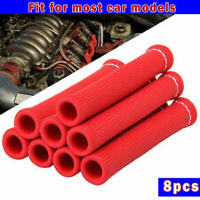 8Pcs 2500° Red Spark Plug Wire Boots Protectors Sleeve Heat Shield Cover For BBC