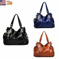 Women's PU Leather Handbag Tote Purse Crossbody Satchel Shoulder Messenger Bag