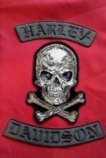 Harley-Davidson Black Rockers  7'' x 10'' Scratch Skull & free Bonus Patch
