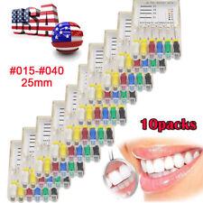 10 Packs Endodontic Dental Hand Use Dental Root Canal H-Files #015-040 25mm【USA】