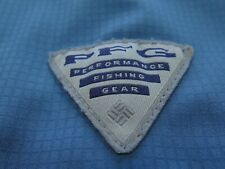 Columbia PFG Men Long Sleeve Omni-Shade Grayish Blue Vented Fishing Shirt XL EUC