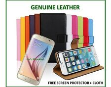 Real Genuine Leather Phone Wallet Case Cover Card Apple IPhone 6 4.7 & Plus 5.5