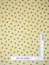 Garden Bumble Bees Yellow Cotton Fabric From The Garden Wilmington By The Yard