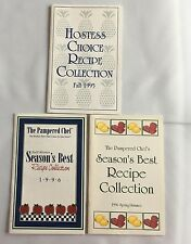 3 Pampered Chef Seasons Best Recipe Booklets Cookbook 1995 1996 Hostess Choice
