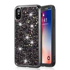 4 color Armor Glitters Bling 2in1 hybrid plastic gel back cover case for phone