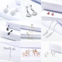 Fashion Bohemia Women Lady Elegant Crystal Rhinestone Ear Stud Earrings Charms