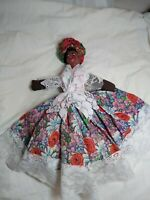 "Vintage Americana Caribbean Cloth Doll African American Folk Art 14"""