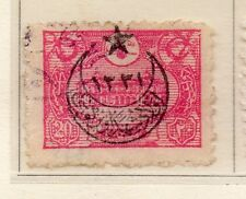 Turkey 1916 Early Issue Fine Used Star & Moon Optd 20p. 009654