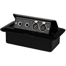 "Pop Up Stage Box with Two XLR Female and Two 1/4"" TRS Female"