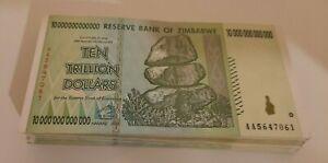 USED ZIMBABWE 10 TRILLION DOLLARS NOTE. CIRCULATED.