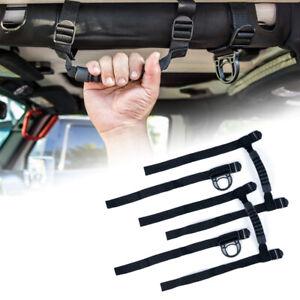 "Xprite Black 2""-3"" Roll Bar Grab Grip Handles for 1955-2021 Jeep Wrangler JK YJ"