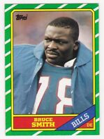 BRUCE SMITH 1986 Topps Football RC # 389 Buffalo Bills Rookie NM - MT