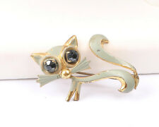 German Made Vintage 1950s Cat Brooch