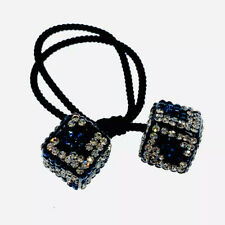 USA DICE Hair Rope Wrap made with Swarovski Crystal Scrunchies Ponytail Holder 2