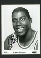 Magic Johnson 8x10 Glossy Photo Matted Framed Signed Autographed Beckett BAS