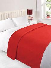 Dreamscene Chaud Doux Uni Polaire Couvre-lit Grande Décoration Sofa lit Rouge
