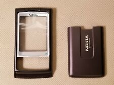 New Nokia Oem Housing Faceplate Lens Back Cover Battery Door for 6270 - Brown