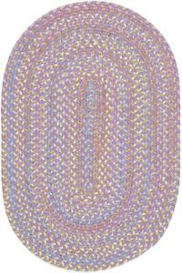 Playtime Soft Textured Polypropylene Kids Playroom Braided Rug Violet Multi PT15