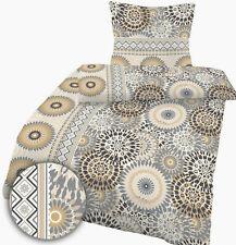 Mako-Satin Bettwäsche 135x200 cm Kreise gold silber 101479 Baumwolle