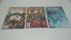 Blackest Night Batman #1-3 Complete Set Run DC Green Lantern 1 variant