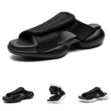 Mens Open Toe Outdoor Walking Flats Non-slip Casual Slingbacks Slippers Shoes D