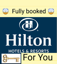 Get your Hilton room key (worldwide) when it's fully booked.