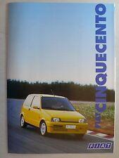 Prospekt Fiat Cinquecento/S/SX/Suite/Sporting, 7.1995, 8 Seiten, folder