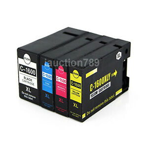5 Canon Compatible PGI-1600XL PGI 1600 B/C/M/Y Ink for Maxify MB2060 MB2360
