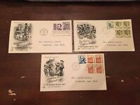 1977 Definitive Issue First Day Cover Lot of 3