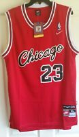NWT MICHAEL JORDAN #23 CHICAGO BULLS RED ROOKIE THROWBACK JERSEY EXTRA LARGE XL
