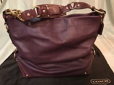 FREE SHIP Authentic Coach Carly in deep plum