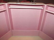 POTTERY BARN KIDS STORAGE TRUNK PINK USE FOR AMERICAN GIRL, GOTZ, BARBIE CLOTHES