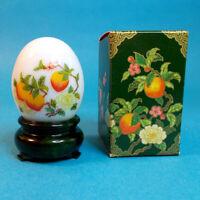 "Vtg 1970s Avon ORIENTAL EGG Peach Orchard Moonwind Perfume 1 oz 2.75"" Bottle NOS"