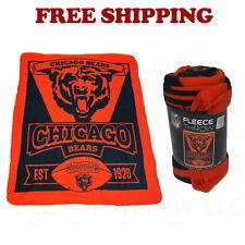 "New Northwest NFL Chicago Bears Large Soft Fleece Throw Blanket 50"" X 60"""