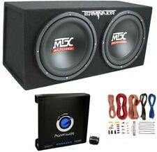 Mtx TNE212D 12-Inch 1200W Dual Loaded Subwoofers Audio With Box With Planet Amp
