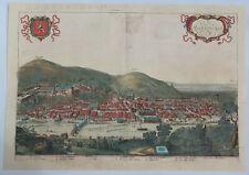 Original City View of Heidelberg - HEIDELBERGA - by Braun & HOGENBERG in 1575