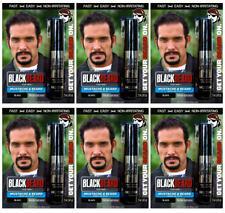 Blackbeard for Men Temporary Colour Mascara Beard Moustache Eyebrows BLACK X6