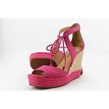 Lucky Brand Listalia Women US 9 Red Wedge Sandal Blemish  13058