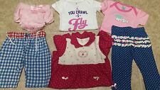 Girl's mixed lot of 0-6 month clothing (Mud Pie, Trend Lab, BabyGear,HealthTex)