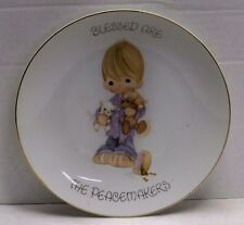 "Precious Moments Decorative Plate 7"" Blessed are the Peacemakers"