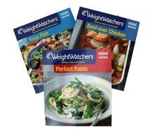 Weight Watchers Mini Series 3 Books Chicken Fish Pasta Cookery Recipes New