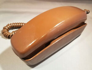 Vintage Western Electric Chocolate Brown Trimline Rotary Desk Phone TEST & WORKS